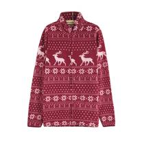 外单 雪花与驯鹿 印花摇粒绒女款无帽/连帽保暖卫衣外套 0.35kg 价格:35.00