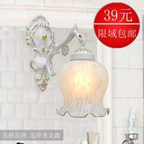 奥美鑫 欧式地中海田园灯 简约时尚创意床头灯 卧室灯镜前灯壁灯 价格:38.80