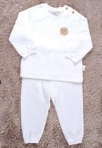 拉比正品 婴儿男女童宝宝秋装内衣 皇冠熊半高领肩开套装LLAFD061 价格:88.00