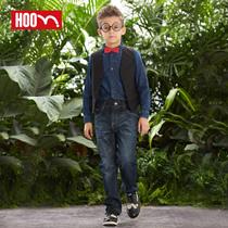 hoo春季新款童装男童舒适时尚牛仔裤 中大童青少年男孩儿童长裤子 价格:99.00