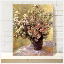 帆布画无框画装饰画莫奈印象派欧式家装卧室走廊客厅花卉静物油画 价格:36.00