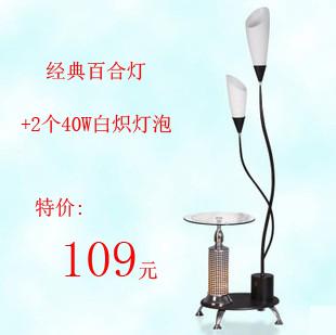 小即是美 简约百合时尚落地灯 客厅卧室黑白茶几台灯 价格:109.00
