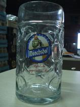 猛士啤酒杯 品牌啤酒杯 德国进口猛士啤酒杯 扎杯 带柄 大酒杯1L 价格:168.00