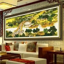 丝线精度100精准印花十字绣3米九尺清明上河图新款客厅超大画收藏 价格:120.00