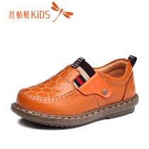 红蜻蜓童鞋 男童小童2013秋季新品真皮牛皮儿童皮鞋511X33L513 价格:143.20