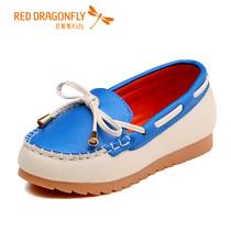 红蜻蜓童鞋 女童小童2013新款儿童休闲皮鞋单鞋 512X31L301 价格:169.00