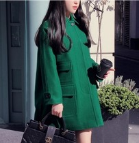【韩国代购】2013新款韩版毛呢大衣韩版修身风衣长款奢华外套 价格:299.00