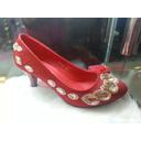 红色女鞋凤形水晶水钻中跟水晶鞋婚鞋旗袍鞋 价格:98.00