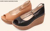 他她专柜正品代购 2013夏季甜美坡跟松糕底鱼嘴女凉鞋2RX13包邮 价格:261.00