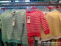 Gap专柜正品代购 横条纹大圆领套头卫衣女童335608 原价199元 价格:55.00