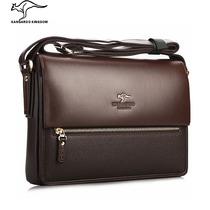 袋鼠男包 商务 男士单肩包 男 公文包休闲牛皮包新款背包斜挎包包 价格:258.00