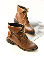 2013新款马丁靴女短靴拉链休闲鞋蘑菇街女鞋欧美风潮鞋BF英伦鞋 价格:118.00