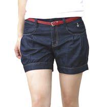 2013韩版OL通勤显瘦休闲短裤女 夏 大码宽松热裤 送腰带 价格:68.00