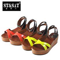 2013夏新款 St&Sat/星期六专柜正品松糕跟凉鞋 女鞋 SS22S56Y03 价格:268.00
