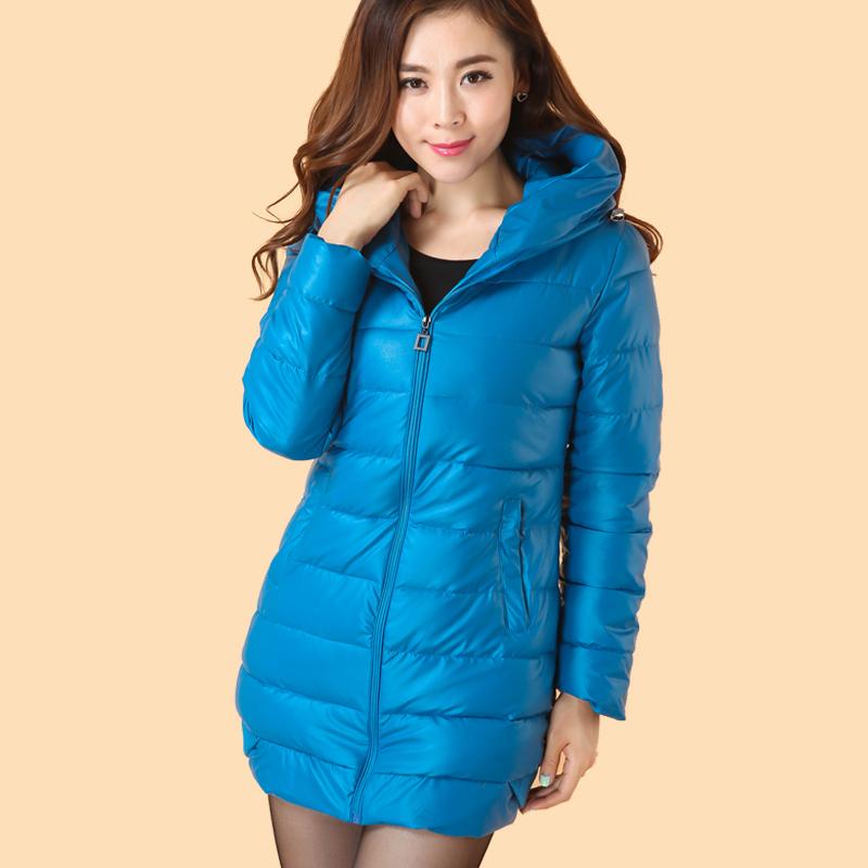 返季清仓 冬季女装新款加厚PU羽绒棉棉服 女士 韩版时尚棉衣特价 价格:95.31