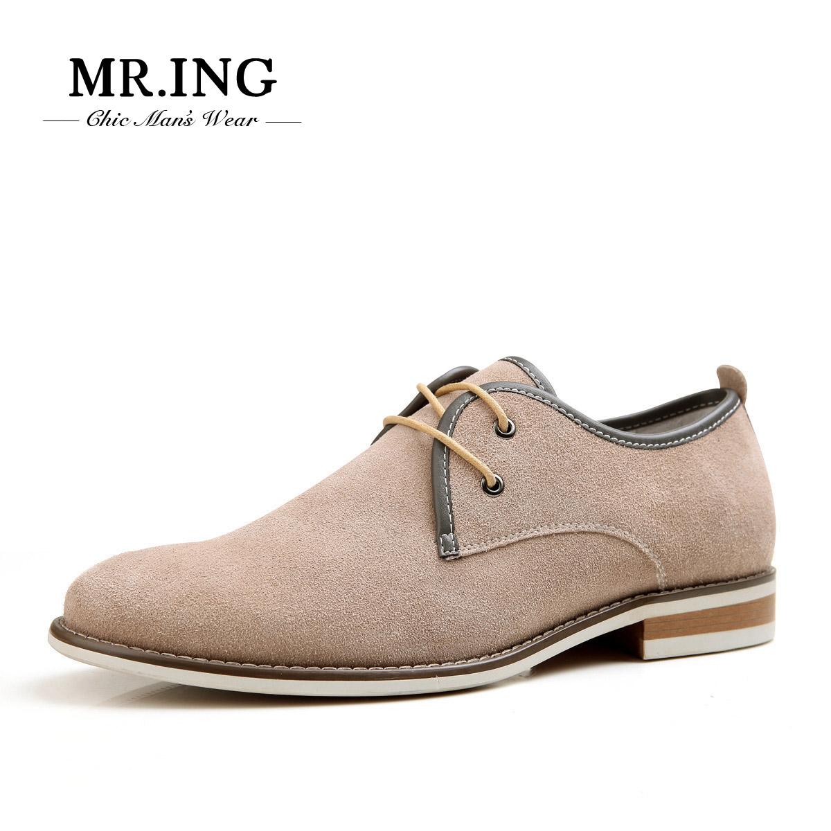 Mr.ing米斯特因 休闲男鞋漠河英伦绅士反绒低帮潮流男士皮鞋A119 价格:199.00