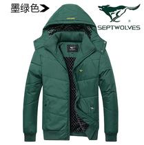 正品七匹狼棉衣特步乔丹anta棉服耐克adidas男装加厚羽绒外套冬 价格:128.00