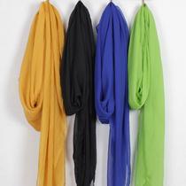 超大长款雪纺丝巾围巾披肩两用韩国秋冬女韩版纯色纱巾沙滩巾包邮 价格:39.00