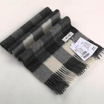 2013冬季新款男士围巾商务保暖格子羊绒羊毛围巾 高档中秋节礼物 价格:128.00