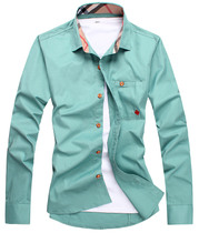 川麦斯 2013秋装新款 衬衫 男 长袖 韩版修身 男装纯棉衬衣英伦潮 价格:39.00