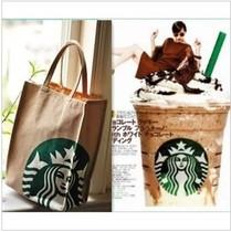 特价新款出口日本星巴克店面专卖厚实帆布包环保袋手拎袋星迷必备 价格:37.00