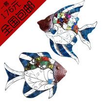 包邮地中海风格铁艺热带鱼壁饰复古墙壁挂饰墙面装饰创意家居家饰 价格:88.35