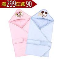 迪士尼宝宝米奇好伙伴轻软抱被新生初生婴儿秋冬纯棉 正品特价 价格:89.10