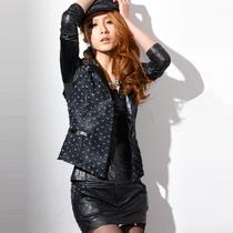 马夹2013秋装新款女装百搭无袖短款牛仔马甲坎肩外搭短外套1105 价格:98.00