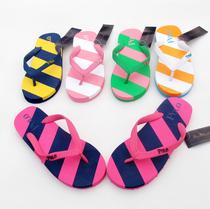 2013新款POLO拖鞋女人字拖鞋沙滩凉拖鞋撞色平底彩条拖鞋 价格:20.00
