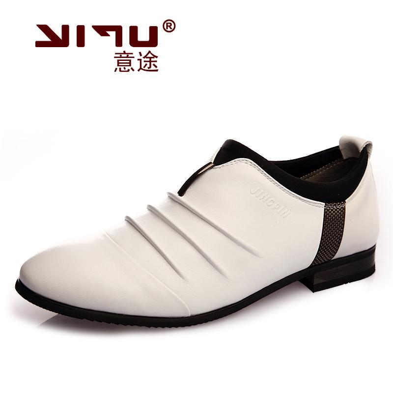 韩版英伦休闲透气商务男士皮鞋男正品真皮板鞋子男低帮05867 价格:268.00