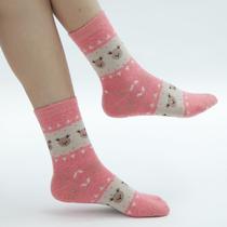 依孜美新品 秋冬款 袜子 女士 加厚保暖羊毛袜 中筒女袜 10双包邮 价格:1.00