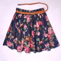 包邮夏季半身裙甜美波点碎花大码亚麻百褶裙蓬蓬裙棉麻短裙女裙子 价格:27.88