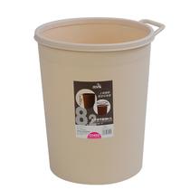 飞达三和提手垃圾桶 简约收纳桶杂物桶果皮桶 8.2L带压边卫生桶 价格:14.90