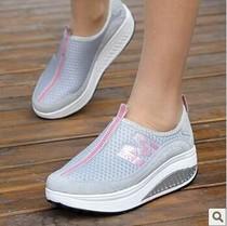 单鞋网面摇摇鞋女运动鞋韩版厚底松糕低帮鞋跑步鞋2013夏季旅游鞋 价格:53.00
