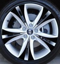 现代劳恩斯酷派碳纤轮毂贴 酷派轮毂改装贴纸 酷派轮胎汽车贴纸 价格:12.00