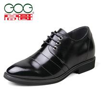 高哥内增高男鞋 男式商务正装皮鞋隐形增高男鞋真皮鞋新品412587 价格:438.00
