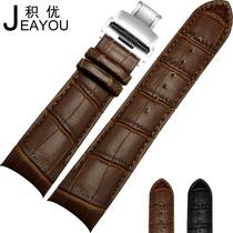 积优小牛皮表带 代用天梭库图T035真皮表带 蝴蝶扣表带男23 24mm 价格:200.00