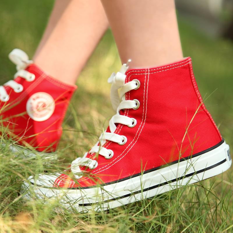 环球正品高帮 帆布鞋 女 韩版 潮鞋秋季情侣款休闲学院风球鞋百搭 价格:39.80