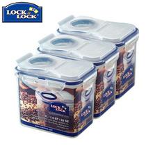 乐扣乐扣保鲜盒HPL812F三件套五谷储存盒干货收纳盒八宝米零食盒 价格:53.00