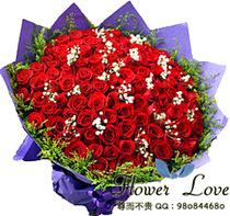 瓦房店普兰海城东港市鲜花店送66朵红玫瑰花/99朵红玫瑰花 价格:328.00