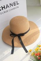2013帽子女夏季新款海滩遮阳帽可折叠沙滩旅游度假草帽大檐帽包邮 价格:49.00