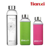 天喜 冷水杯 耐热玻璃水瓶 创意车载杯子 玻璃杯 矿泉水瓶 茶杯 价格:29.40