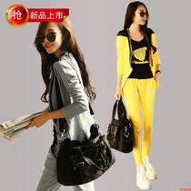 秋装女新款2013韩版休闲小西装时尚大码运动服套装显瘦卫衣三件套 价格:287.00