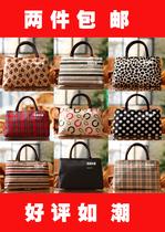 新款韩版双拉链小包帆布包牛津布包女包双层手拎包手提包2个包邮 价格:19.00