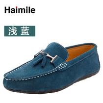 13新款男士豆豆鞋韩版鞋男士一脚蹬鞋子 套脚船鞋懒人驾车MRing鞋 价格:159.00