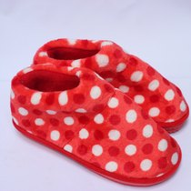 精品时尚韩版棉拖鞋包跟棉鞋居家保暖鞋毛绒月子鞋厚底防滑红色 价格:12.00