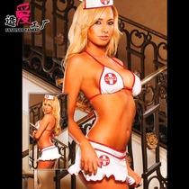 【专柜正品】美国Hustler情趣内衣诱惑俏护士装迷你裙比基尼套装 价格:198.00