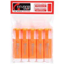 金万年(Genvana) G-0520 扁型荧光笔-橙色(5支装)/满10元包邮 价格:8.50