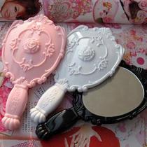244[皇冠]镜梳网安娜苏系列 安娜女王小号手持镜手柄镜子/白色25g 价格:1.00