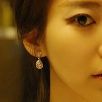 八款包邮E2155 饰品耳钉三色简单美多钻 淑女水滴 镶钻耳钉 耳饰 价格:4.37